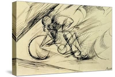 Dynamism of a Cyclist, 1913-Umberto Boccioni-Stretched Canvas Print