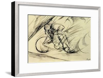 Dynamism of a Cyclist, 1913-Umberto Boccioni-Framed Premium Giclee Print
