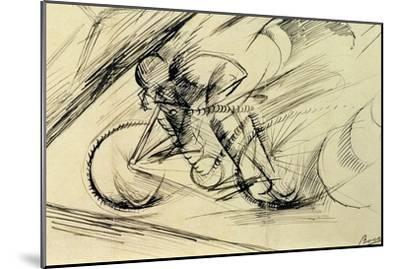 Dynamism of a Cyclist, 1913-Umberto Boccioni-Mounted Premium Giclee Print