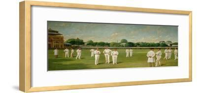 The Players in the Field - Lords on a Gentlemen V Players Day, 1895-Dickinsons-Framed Giclee Print