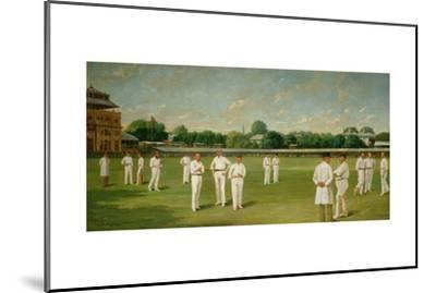 The Players in the Field - Lords on a Gentlemen V Players Day, 1895-Dickinsons-Mounted Giclee Print