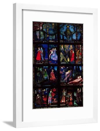 The Geneva Window Eight Panels Depicting Scenes From Early Irish