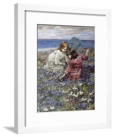 After the Butterfly Chase, 1911-Edward Atkinson Hornel-Framed Giclee Print