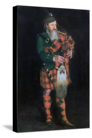 A Piper, 1885-William Kennedy-Stretched Canvas Print