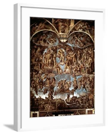 Sistine Chapel: The Last Judgement, 1538-41-Michelangelo Buonarroti-Framed Giclee Print