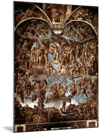 Sistine Chapel: The Last Judgement, 1538-41-Michelangelo Buonarroti-Mounted Giclee Print