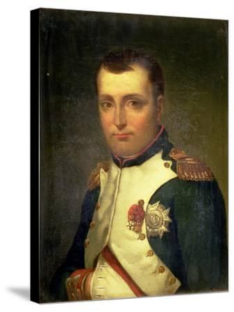 Napoleon Bonaparte (1769-1821)-Jacques-Louis David-Stretched Canvas Print