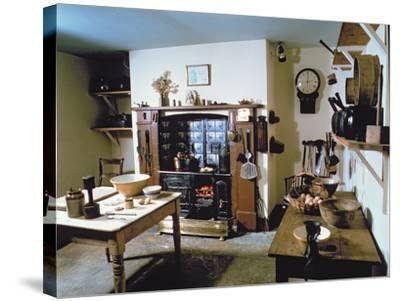 Late Victorian Kitchen (Scullery) with Working Range, Holst's Birthplace--Stretched Canvas Print