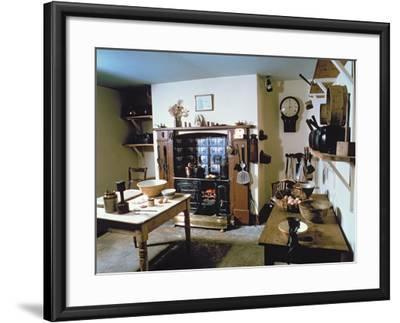 Late Victorian Kitchen (Scullery) with Working Range, Holst's Birthplace--Framed Photographic Print