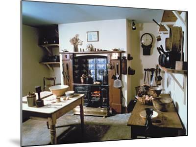 Late Victorian Kitchen (Scullery) with Working Range, Holst's Birthplace--Mounted Photographic Print