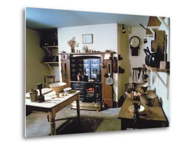 Late Victorian Kitchen (Scullery) with Working Range, Holst's Birthplace--Metal Print