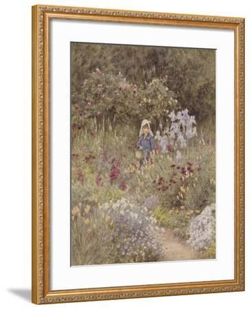 Minna, Illustration to 'Happy England' by Marcus Huish, Pub. by a and C Black, 1904-Helen Allingham-Framed Giclee Print