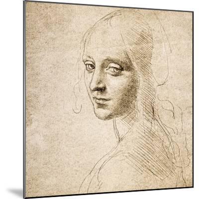 Study for the Head of a Girl, c.1483-Leonardo da Vinci-Mounted Premium Giclee Print