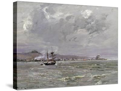 Dundee and Broughty Ferry from the South-William Bradley Lamond-Stretched Canvas Print