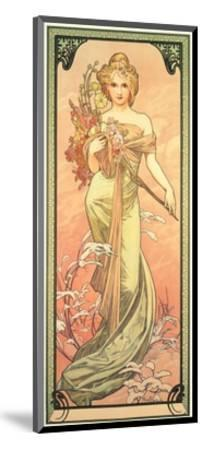 The Seasons: Spring, 1900-Alphonse Mucha-Mounted Giclee Print