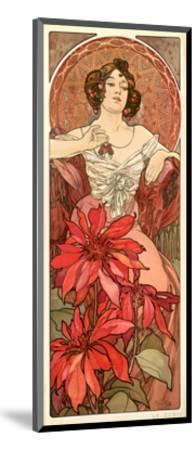 The Precious Stones Ruby 1900 Alphonse Mucha Mounted Giclee Print