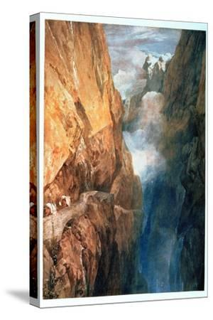 Passage of Mount St. Gotthard from the Devil's Bridge, 1804-J^ M^ W^ Turner-Stretched Canvas Print