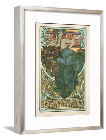 Plate 47 from 'Documents Decoratifs', 1902-Alphonse Mucha-Framed Premium Giclee Print