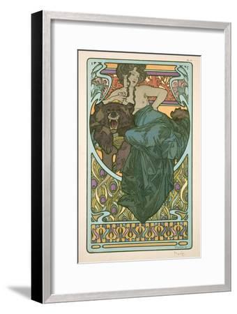 Plate 47 from 'Documents Decoratifs', 1902-Alphonse Mucha-Framed Giclee Print