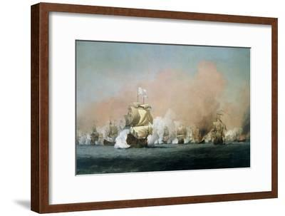 The Four Days' Battle, 1st-4th June 1666: The Royal Prince-Willem Van De, The Younger Velde-Framed Giclee Print