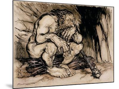 A Most Terrific Giant, Illustration from 'English Fairy Tales', Published 1918-Arthur Rackham-Mounted Giclee Print
