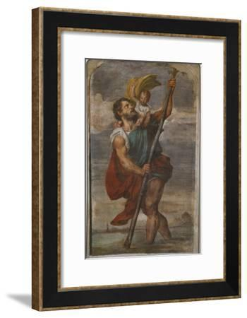 St. Christopher, 1523-24-Titian (Tiziano Vecelli)-Framed Giclee Print
