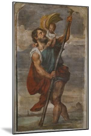St. Christopher, 1523-24-Titian (Tiziano Vecelli)-Mounted Giclee Print