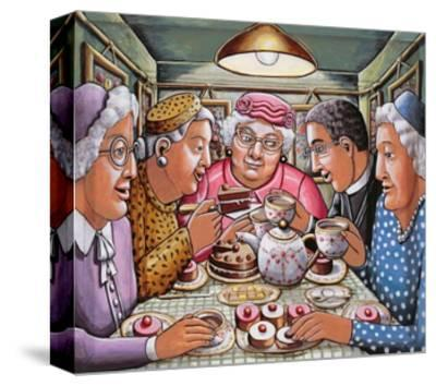 The Curate Taking Tea with the Ladies, 2009-P.J. Crook-Stretched Canvas Print