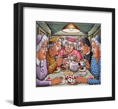 The Curate Taking Tea with the Ladies, 2009-P.J. Crook-Framed Giclee Print
