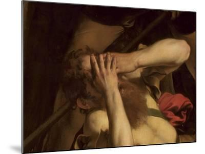 The Conversion of St. Paul (Detail)-Caravaggio-Mounted Giclee Print