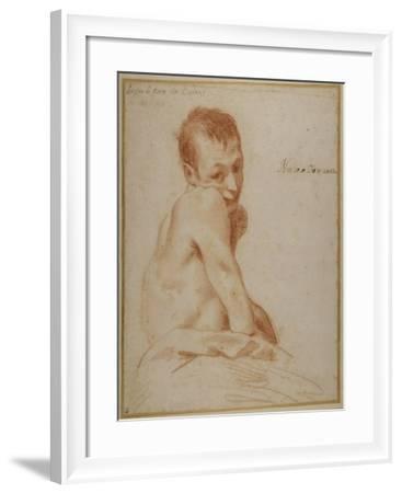 A Hunchback Boy-Annibale Carracci-Framed Giclee Print