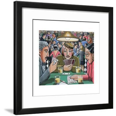 Bridge Players, 2009-P.J. Crook-Framed Giclee Print