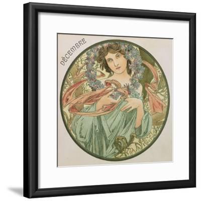 December, 1899 (Detail)-Alphonse Mucha-Framed Giclee Print