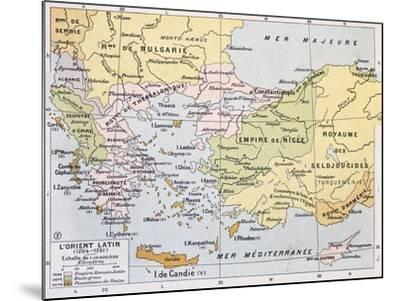 Aegean Region In 13Th Century Old Map-marzolino-Mounted Art Print