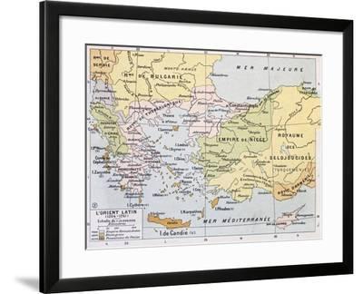 Aegean Region In 13Th Century Old Map-marzolino-Framed Art Print