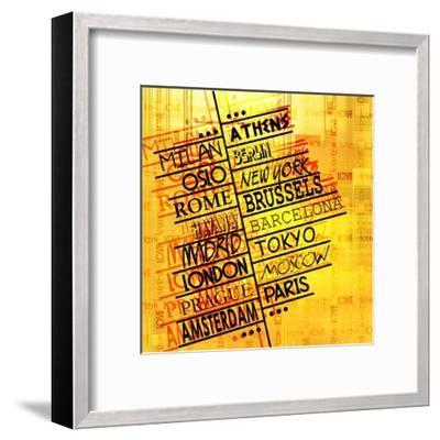 Art Vintage Word Pattern-Irina QQQ-Framed Art Print