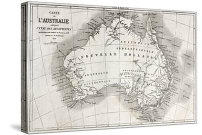 Australia Old Map-marzolino-Stretched Canvas Print