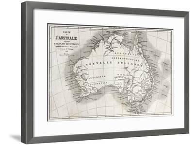 Australia Old Map-marzolino-Framed Art Print