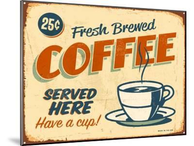 Vintage Design -  Fresh Brewed Coffee-Real Callahan-Mounted Art Print