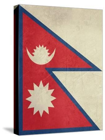 Grunge Sovereign State Flag Of Country Of Nepal In Official Colors-Speedfighter-Stretched Canvas Print