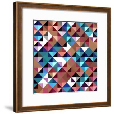 Seamless Pattern Of Geometric Shapes-Login-Framed Art Print