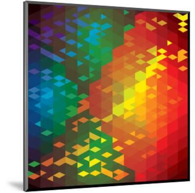 Abstract Colorful Of Geometric Shapes-smarnad-Mounted Art Print
