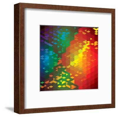 Abstract Colorful Of Geometric Shapes-smarnad-Framed Art Print
