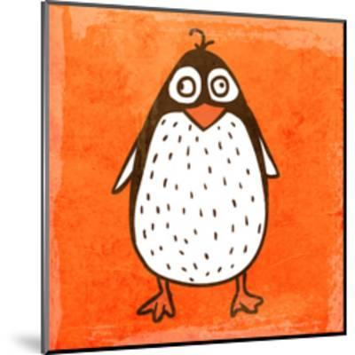 Cartoon Penguin. Cute Hand Drawn, Vintage Paper Texture-Ozerina Anna-Mounted Art Print