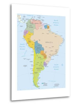 South America-Highly Detailed Map-ekler-Metal Print