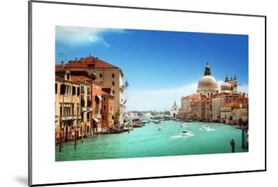 Grand Canal And Basilica Santa Maria Della Salute, Venice, Italy-Iakov Kalinin-Mounted Art Print