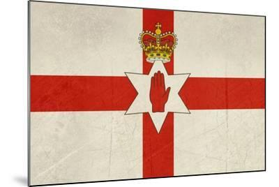 Grunge Ulster Flag Of Northern Ireland Illustration, Isolated On White Background-Speedfighter-Mounted Art Print