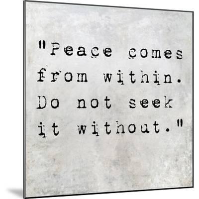 Inspirational Quote By Siddhartha Gautama (The Buddha) On Earthy Background-nagib-Mounted Premium Giclee Print