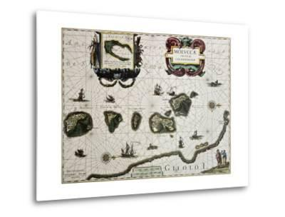 Maluku Island Old Map. Created By Willem Blaeu, Published In Amsterdam 1630-marzolino-Metal Print