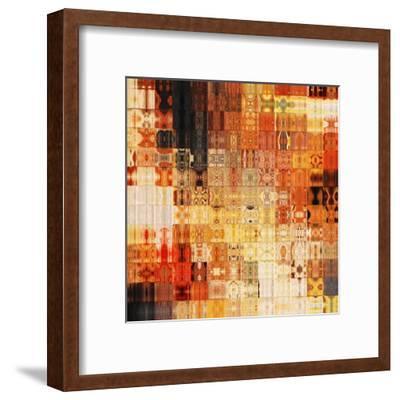 Art Abstract Rainbow Geometric Pattern Background In Red Color-Irina QQQ-Framed Art Print